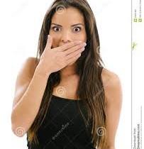 woman in shock